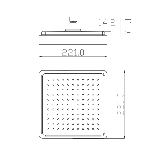 Porta Hddp2173 Square Shower Head Ezmakaan